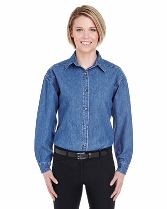 Ladies' Cypress Denim Shirt: (8966)