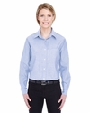 Ladies' Long-Sleeve Performance Pinpoint: (8361)