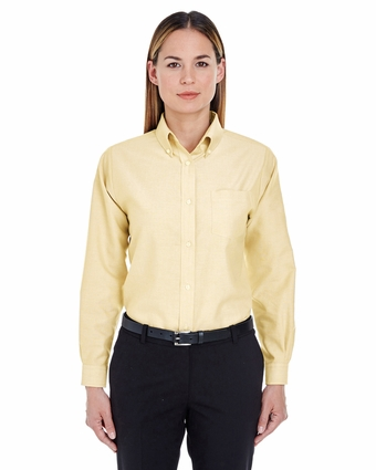 Ladies' Classic Wrinkle-Resistant Long-Sleeve Oxford: (8990)