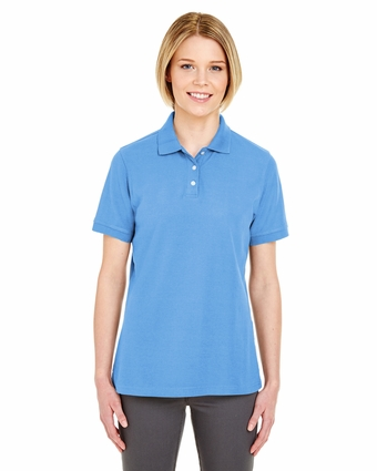 Ladies' Platinum Honeycomb Piqué Polo: (7510L)