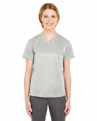 Ladies' Cool & Dry Sport V-Neck Tee: (8400L)