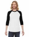 Unisex Poly-Cotton Baseball Raglan Tee: (BB453)