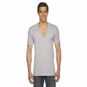 Unisex Sheer Jersey Short-Sleeve Deep V-Neck: (6456)