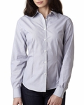 Ladies' Long-Sleeve Non-Iron Feather Stripe: (V0421)