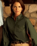 Ladies' Long-Sleeve Wrinkle-Resistant Oxford: (59800)