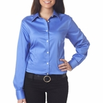 Van Heusen  Women's Woven Shirt: Pocket with Solid Sateen finish (V0219)