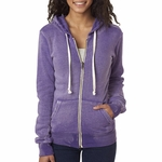 Ladies' Angel Sanded Hooded Fleece: (W2350)