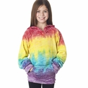Girls' Courtney Burnout V-Notch Hooded Fleece: (W1162Y)