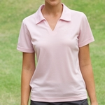Willow Pointe Women's Polo Shirt: 100% Polyester Short-Sleeve w/ Johnny Collar (2001)