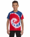 Youth 4.5 oz. 100% Cotton Tie-Dye T-Shirt: (CD100Y)