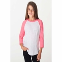 Youth Poly-Cotton 3/4 Sleeve Raglan: (BB253)