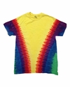 Youth Rainbow Pattern Tie-Dyed Tee: (CD1140Y)