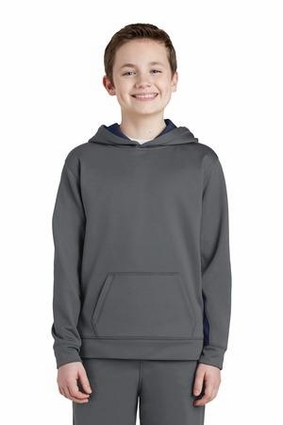 Youth Sport-Wick Fleece Colorblock Hooded Pullover