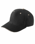 Brushed Cotton Twill 6-Panel Mid-Profile Sandwich Cap: (6262S)