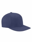 Wooly Twill Pro Baseball On-Field Shape Cap with Flat Bill: (6297F)