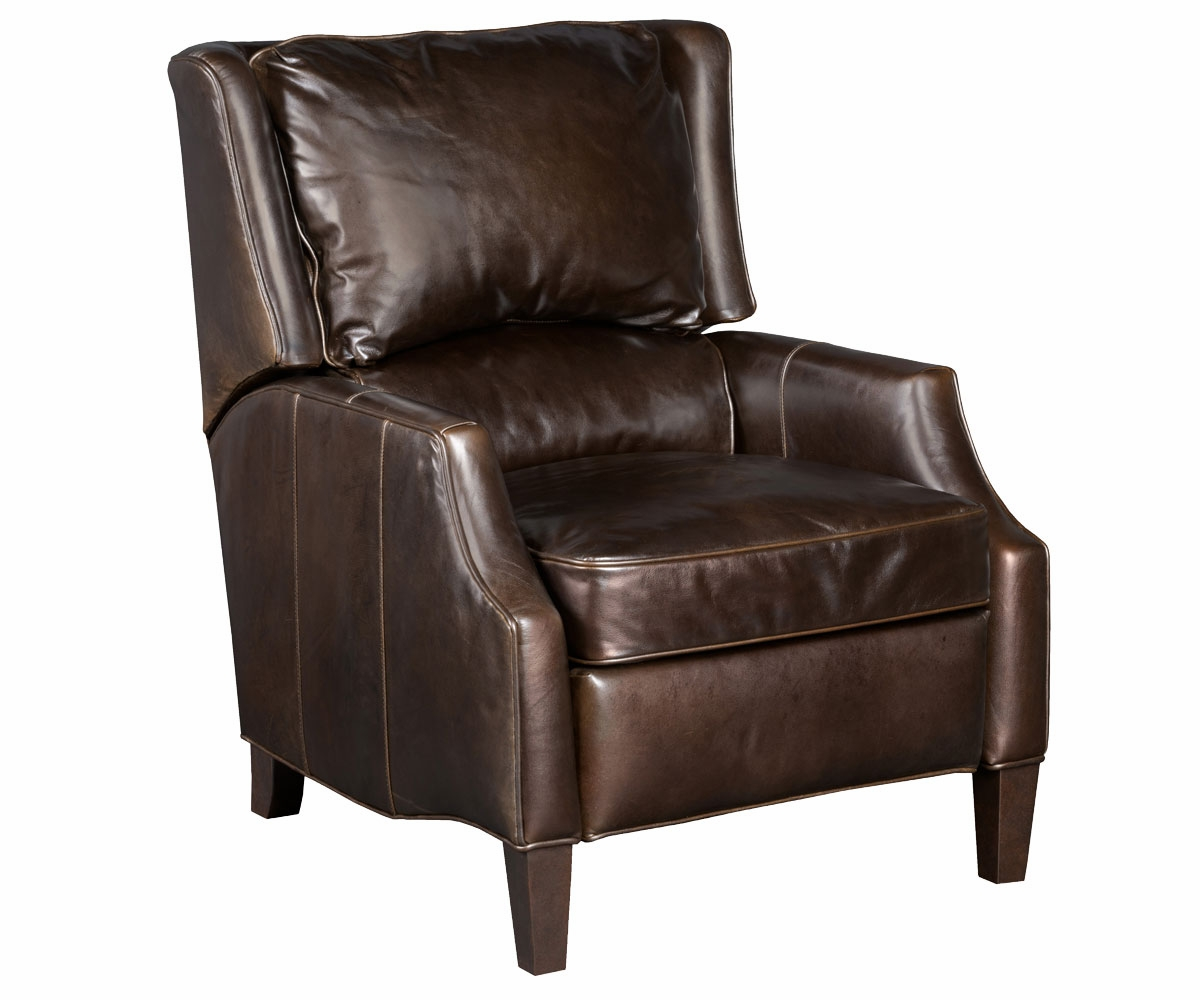 Scoop Arm Transitional Recliner With Wing Back Club
