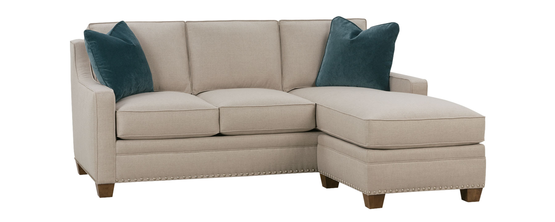 small fabric sectional and sleeper with chaise club