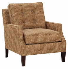 Fabric Button Back Accent Chair W Sculpted Arms