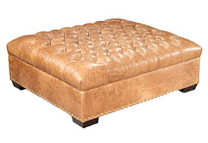 Extra Large Square Tufted Cocktail OttomanClub Furniture