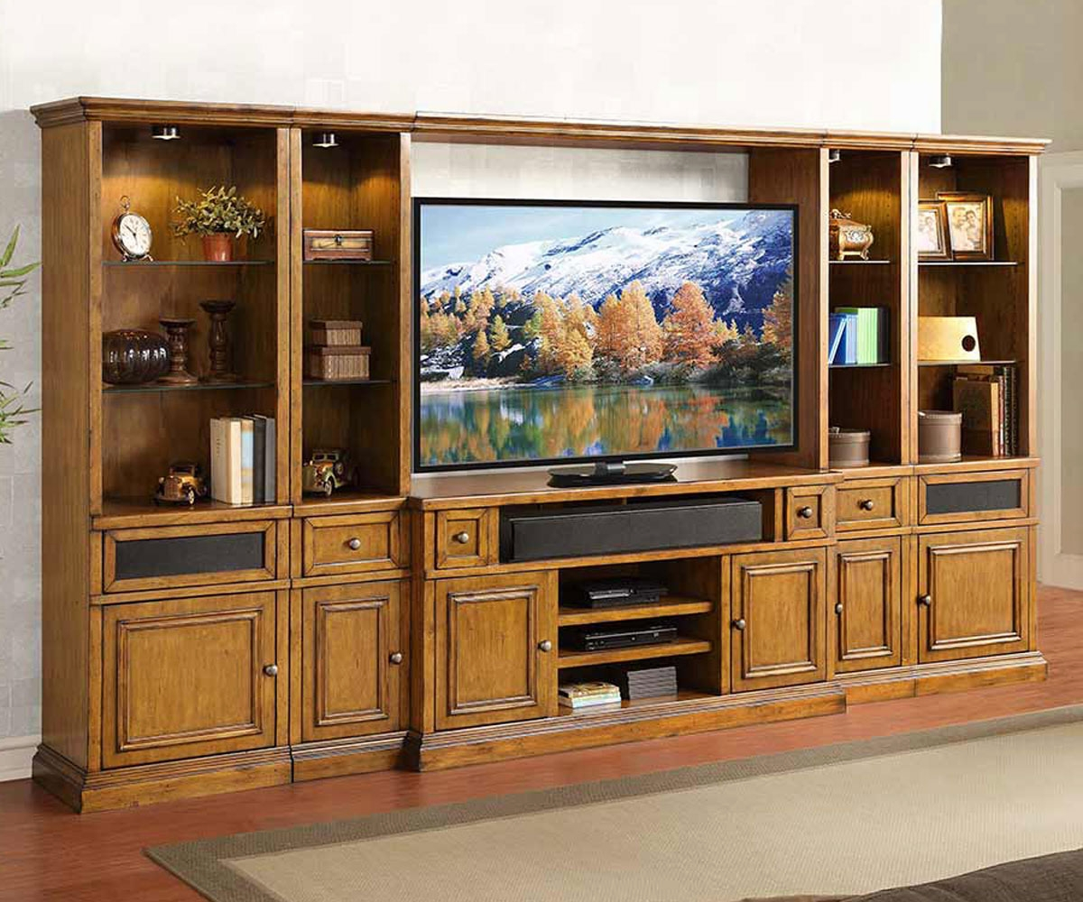 Pin wall unitswall units designs shelves on pinterest for Large tv wall units