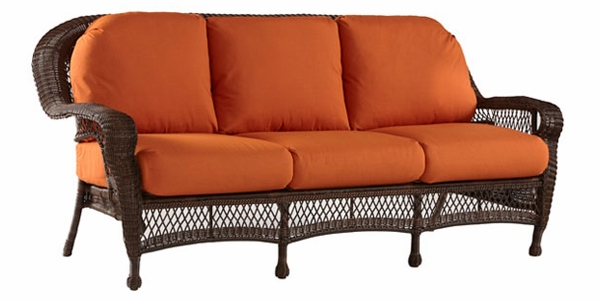 Antiqua Outdoor Resin Wicker Patio Sofa