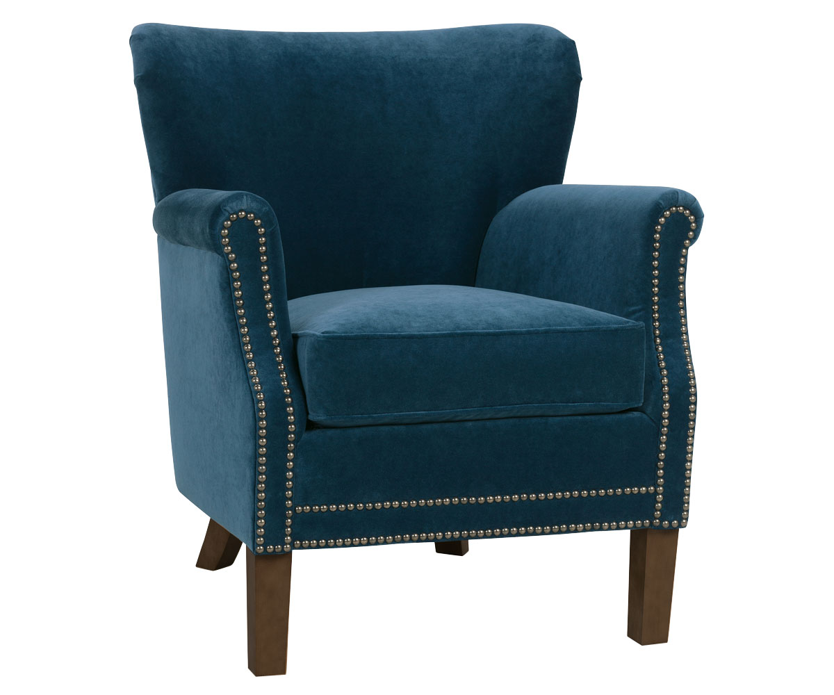 Small Accent Couch: Small Fabric Upholstered Tight Back Accent Chair