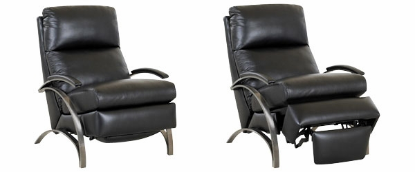 Anton Modern Leather Recliner With Brushed Platinum Arms And European Styling  sc 1 st  Club Furniture & Contemporary European Style Leather Recliner Chair | Club Furniture islam-shia.org