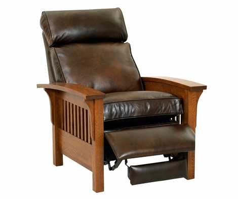 Aldrich Arts & Crafts Mission Leather Recliner