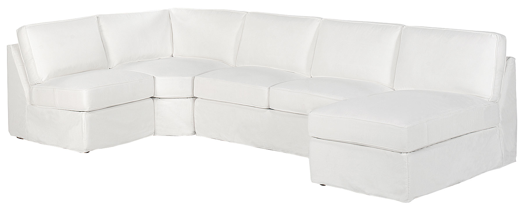 Ava armless sectional club furniture for Armless chaise slipcover
