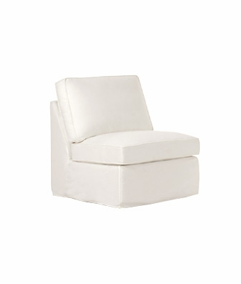 Ava Slipcover Armless Chair