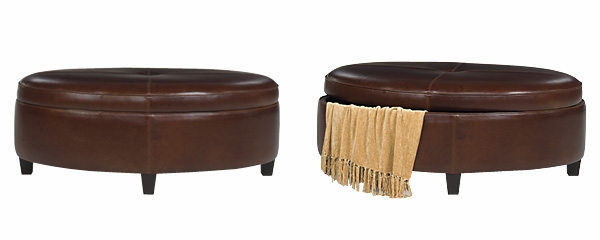 Avery  Designer Style  Oval Leather Upholstered Storage Bench  sc 1 st  Club Furniture & Oval Storage Ottoman in Leather Upholstery | Club Furniture islam-shia.org
