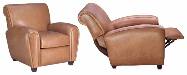 Baxter  Designer Style  French Art Deco Style Leather Recliner  sc 1 st  Club Furniture & Designer Style