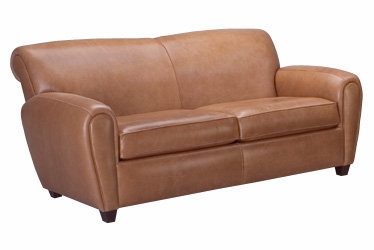 Leather Full Size Roll Back Sleeper Sofa ClubFurniture