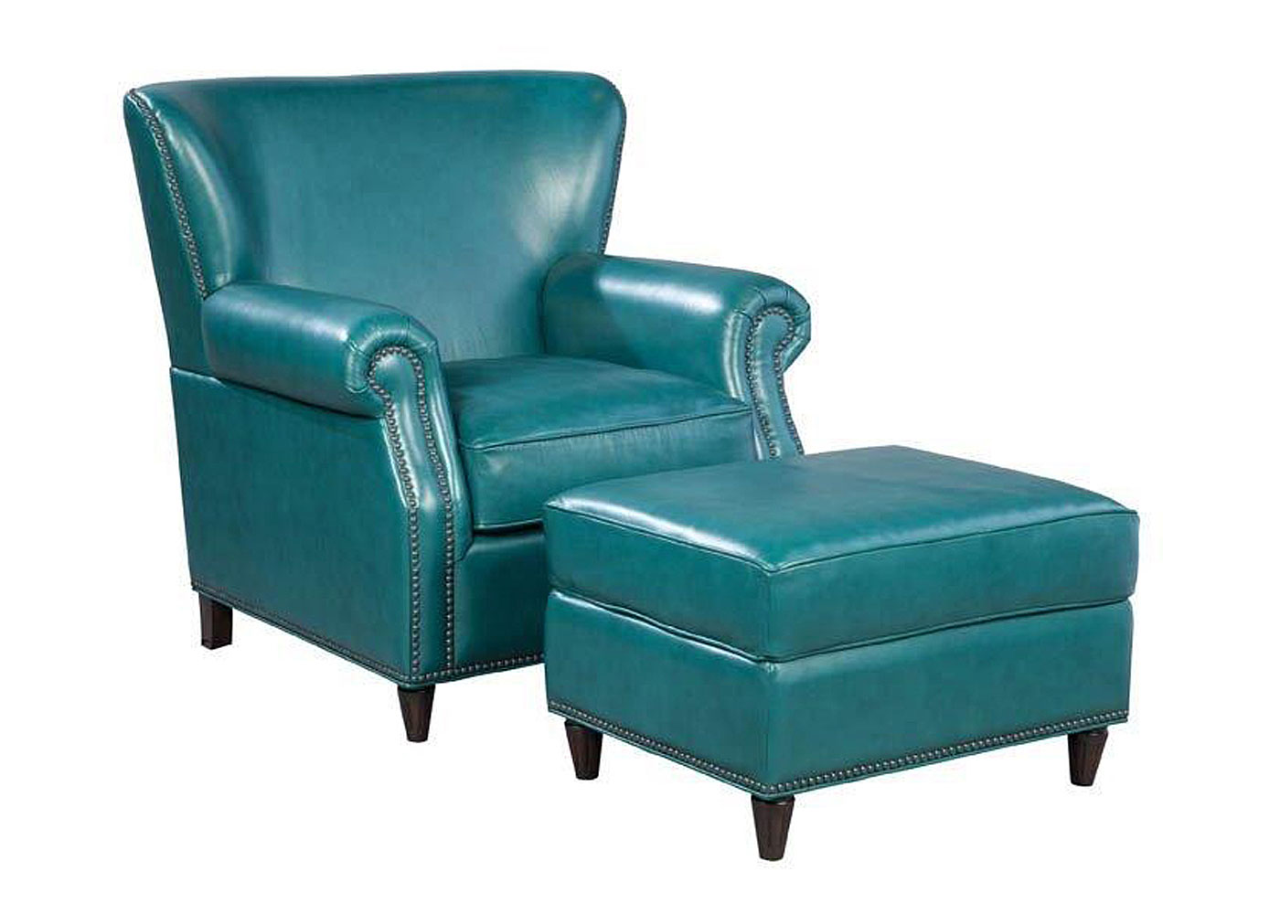 Leather Accent Chair With Ottoman Leather Accent Chairs And Chaises