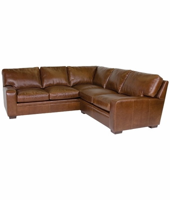 Leather contemporary 8 way hand tied sectional sofa club for Sofa 8 way hand tied