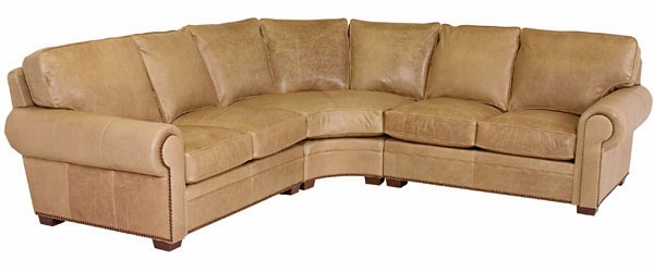 Benson  Designer Style  Leather Sectional With Nailhead Trim (As Configured)  sc 1 st  Club Furniture : leather sectional with nailhead trim - Sectionals, Sofas & Couches
