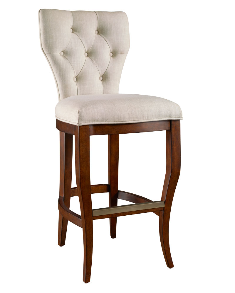 Bowen ready to ship tufted back bar counter height stool collection bar counter stools - Average height of bar stools ...