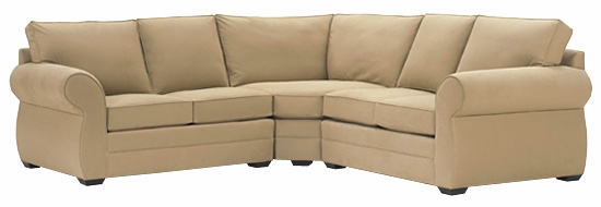 brooke 3piece fabric upholstered modular sectional as configured