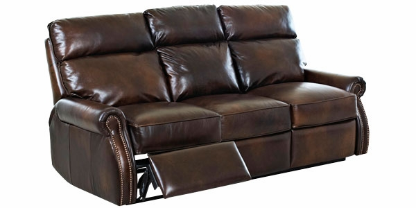 Leather Dual Power Assist Reclining Sofa