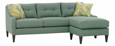 Carly Contemporary Button Back Reversible Chaise Sofa
