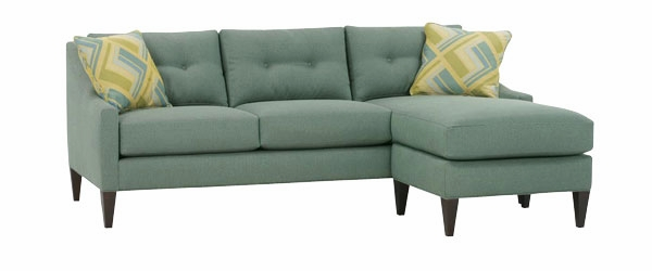 Small Contemporary Button Back Couch With Chaise Club Furniture