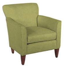 Caroline designer style small upholstered contemporary for Small club chairs upholstered