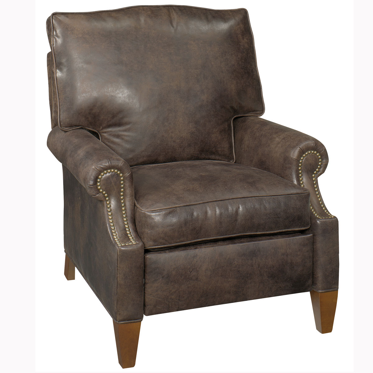 Push Back Leather Reclining Chair Club Furniture