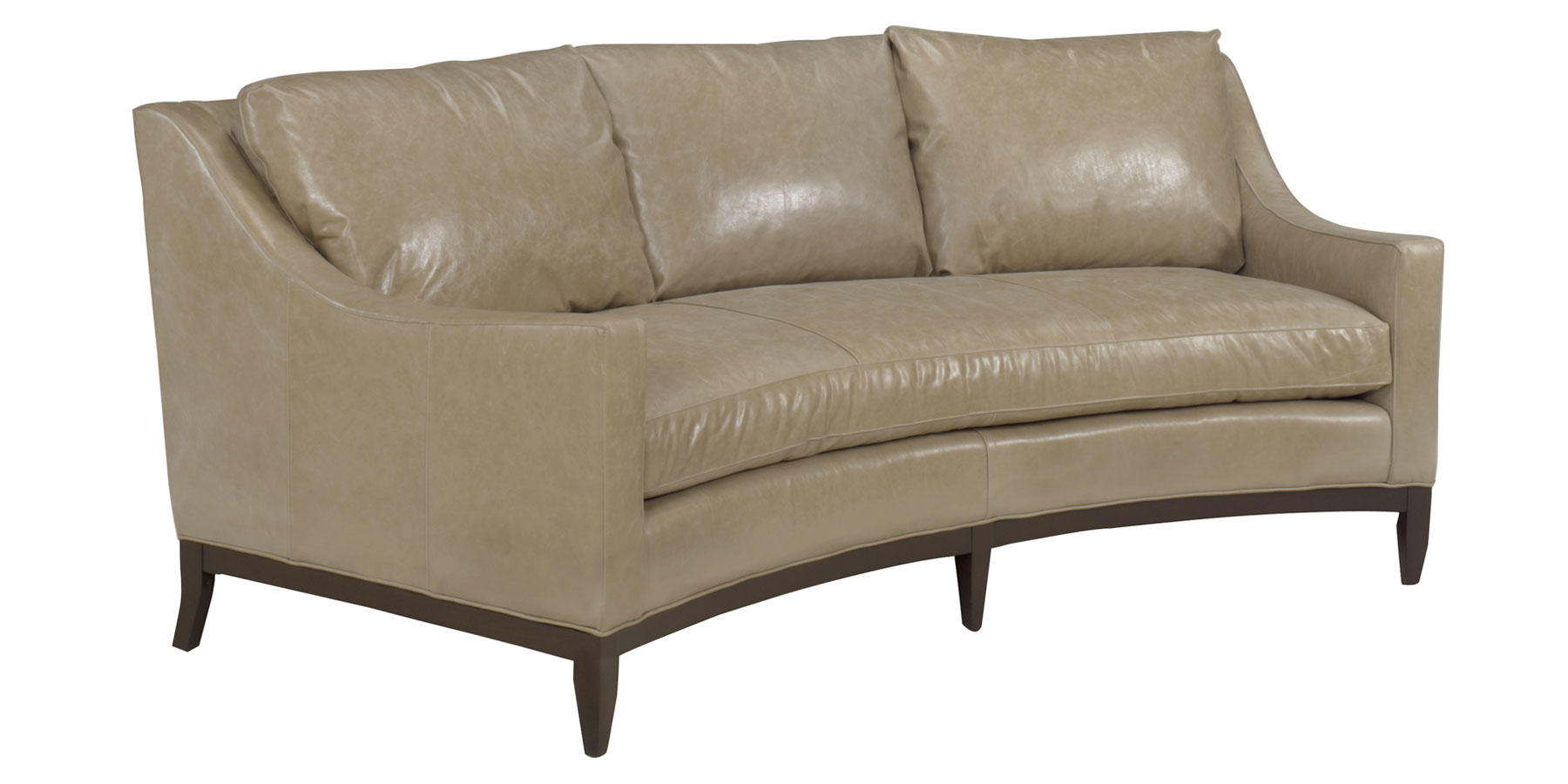 Cedric Quot Designer Style Curved Conversation Sofa Leather