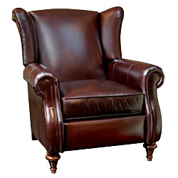 Chamberlain Reclining Wingback  sc 1 st  Club Furniture & Leather Wingback Recliner With Insert Panel Arms | ClubFurniture.com islam-shia.org