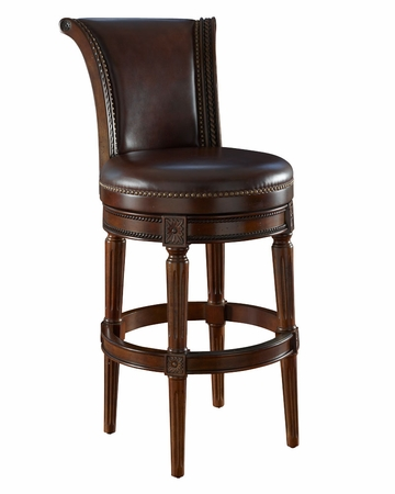 Leather Swivel Counter Bar Height Stools Club Furniture