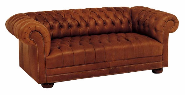 chesterfield sleeper sofa button tufted leather cigar ForTufted Leather Sleeper Sofa