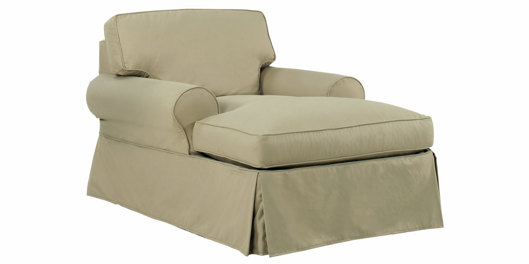 Chloe Slipcovered Chaise Lounge Chair  sc 1 st  Club Furniture : armchair and chaise lounge - Sectionals, Sofas & Couches