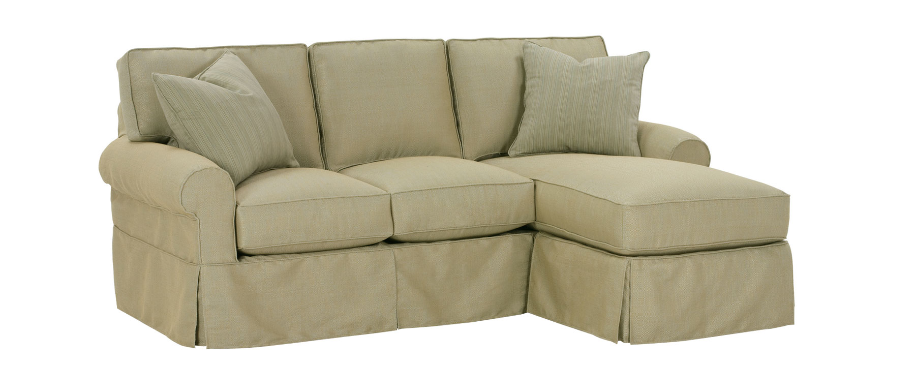 Christine Slipcovered Small Reversible Chaise Sectional Sofa. clubfurniture  sc 1 st  Club Furniture : sectional sofa with reversible chaise - Sectionals, Sofas & Couches