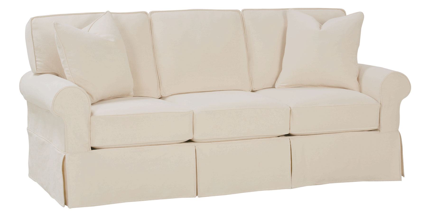 Christine quick ship slipcovered sofa collection for Furniture sofas and couches